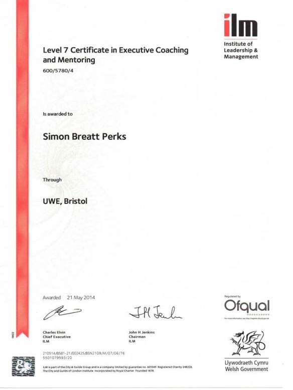 ILM Coaching Certificate